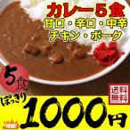 【ネコポス】送料無料 レストラン用 レトルトカレー5食お試しセット 1000円ポッキリセール レストランユース