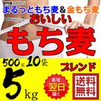 もち麦 送料無料 おいしいもち麦ブレンド 国内産 金もち麦 使用 5kg 500g×10袋