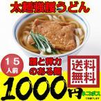 うどん 太麺強腰 讃岐うどん  セール 15人前 送料無料 ネコポス 1000円 ポッキリ