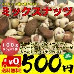 ナッツ ミックスナッツ 100g 50g×2袋 小分け ネコポス 送料無料 ポイント消化 アーモンド カシューナッツ