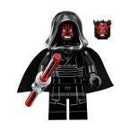 レゴ スターウォーズ LEGO Star Wars Sith Minifigure - Darth Maul Evil Smile with Horns, Hood, a