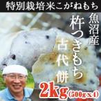 魚沼産 杵つきもち 古代餅 2kg(500gx4)