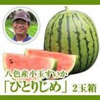 【完売】八色産小玉スイカ「ひとりじめ」2玉箱