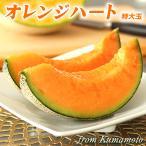 母の日 メロン AI最先端農業 オレンジハート 特大玉 プレミアム 5L~6L 1.8kg以上 送料無料 熊本産 産直 ギフト プレゼント 子供の日 フルーツ 果物 くだもの