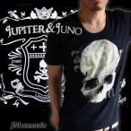 Jupiter&Juno  ジュピターアンドジュノ  Vintage Skull & Logo Printed Short Sleeve Tee(ヴィンテージスカル&ロゴプリント半袖 Tシャツ)