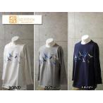 【SALE!!20%OFF!!】spinbox-スピンボックス-シャビ君 7分袖 Tシャツ バード プリント