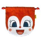 【あすつく対応】012046/ANP-800 アンパンマン フェイス巾着 「ドキンちゃん」