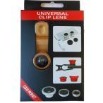 GLCL-001/CORE/[UNIVERSAL CLIP LENS]スマホ用カメラクリップ式レンズ3種セット[ 魚眼 / マクロ / ワイド](ゴールド)/スマートフォン/アクセサリー/カメラ