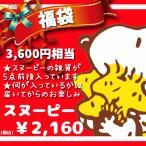 FUKU-SP-2160 / 中身はおまかせ!ピーナッツキャラクター雑貨福袋「スヌーピー」(上代¥3700相当中身は、5点前後)