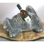 輸入雑貨 プランター ワインホルダー 蛙 カエル 真鍮