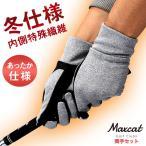 冬仕様 ゴルフ グローブ 手袋 両手 メール便送料無料 グリップ加工 マックスキャット Maxcat メール便可能