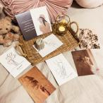 ポストカード 4パターンから選べる8枚セット 韓国 北欧 おしゃれ アート ポスター はがき ナチュラル インテリア 雑貨  送料無料