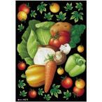 デコレーションシール(A4サイズ) 野菜集合 チョーク No.40272 (受注生産)