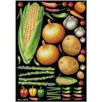 デコレーションシール(A4サイズ) 野菜アソート2 チョーク No.40276 (受注生産)