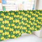 カフェカーテン レモン 緑 (幅1000mm) No.40539 (受注生産)