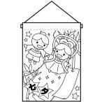 塗り絵タペストリー 七夕 織姫と彦星 No.42576 (受注生産)