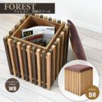 格子デザイン 京風 収納スツール / 座れる 収納ボックス 木製 玄関椅子 おしゃれ 和風 muq 1