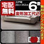 カーペット 6畳 防ダニ 防炎カーペット 江戸間 六畳 絨毯 おしゃれ 安い アースライン 変形加工代込