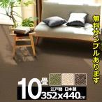 カーペット 10畳 リビング 防ダニ 防炎カーペット 江戸間 十畳 絨毯 おしゃれ 安い 長方形 ホームシェル