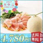 【送料無料 お中元 メロン】メロンと生ハムセット【H14-E】(67124)