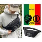ウエストバッグ NESTA BRAND ネスタブランド ウエストポーチ ウエストバッグ カバン メッシュポケット 3段ロゴ NB-003