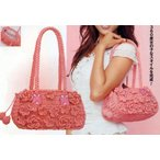 かごバッグ カゴバッグ ハンドバッグ セミショルダーバッグ ペーパー素材 花モチーフ付 浴衣 花柄内布