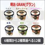 明治 GRAN(グラン) アイスクリーム ミニカップ 6種類から2種類選べる12個(6個×2種類)セット