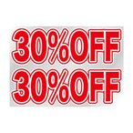 Pウィンドウシール 6878 片面(点線カット) 30%OFF 送料無料  送料無料 メーカー直送 期日指定・ギフト包装・注文後のキャンセル・返品不可 ご注文後在庫確認