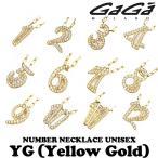 ガガミラノ ジルコニアナンバーネックレス TNC-xx-CZシリーズ イエローゴールド 男女共用 正規品