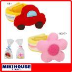 ミキハウス(mikihouse) 赤い車とお花のリストラトル(手首用)(0ヶ月から)(日本製)