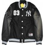 ショッピングスタジャン スタジャン スタジアムジャケット ニューヨークヤンキース 中綿メルトンジャケット 袖:合成皮革 バック無地 MAJESTIC(マジェスティック)