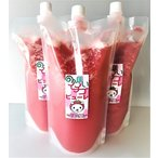 100%いちご果汁1000g(冷凍イチゴピューレ)(いちごジュースのもと)(業務用)(無添加)(非加熱)(無加糖)