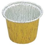 丸型カップ 7cm (ゴールド) A4070E 100枚シュリンク包装
