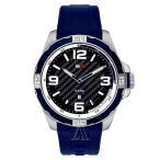 トミーヒルフィガー メンズ  ブルー シリコン 1791091 あすつく 腕時計