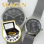 スカーゲン ペアウォッチ チタニウム 233XLTTM233XSTTM あすつく 腕時計