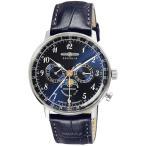 ツェッペリン メンズ ヒンデンブルク ムーンフェイズ ネイビー レザー 7036-3 あすつく 腕時計