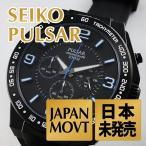 Pulsar パルサー メンズ ON THE GO クロノグラフ ラバー PT3405 あすつく 腕時計