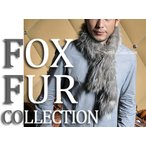 SF 毛皮 FOX 本毛皮 シルバーフォックス 白 銀 ファー リアルファー メンズ メンズファッション フォックス