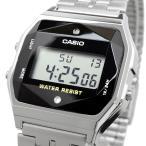 送料無料 腕時計 CASIO カシオ 海外モデル A159WAD-1 チープカシオ 天然ダイヤ 多面カットガラス シルバー