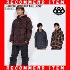 18-19 新作 686 SIX EIGHT SIX ウェア メンズ ジャケット JAPAN SMU WOODLAND SHELL JACKET スノーボードウェア スノボ L8W909