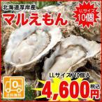 【送料無料】厚岸町からプリップリの牡蠣をお届け!北海道厚岸産殻付牡蠣(マルえもん) / LLサイズ / 10個入