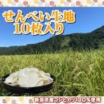 せんべい 生地 10枚入 新潟 コシヒカリ 無添加 米 手焼き おうち時間 BBQ バーベキュー オーブントースター 送料無料 農家直送
