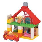 ブロックラボ ハウスシリーズ アンパンマンとおおきなパン工場とすてきなおうちブロックバケツ