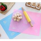 パンマット ベーキングマット シリコン 目盛付き 調理 製菓道具 スケッパー付き