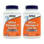 ウルトラオメガ3 ナウフーズ 180錠 2個セット NOW FOODS Ultra Omega-3 180 Softgels 2set