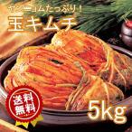 送料無料  玉キムチ5kg 韓国キムチ 白菜 5kg クール便 業務用 白菜キムチ 5キロ 韓国の激ウマキムチ! 業務用