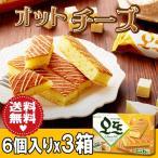送料無料 オリオン しっとり オットケーキ チーズ 6個入x3箱 /お菓子/おやつ/菓子/チーズケーキ/カマンベール/ソフトケーキ/洋菓子/オト/オート