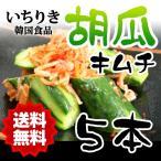 クール便 送料無料 いちりき食品 胡瓜キムチ5本(白) 韓国 焼き肉 食材 おかず 胡瓜 きゅうり キュウリ キムチ 自家製キムチ 料理 家庭料理