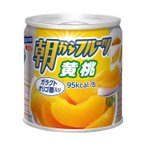 【送料無料】【2ケースセット】はごろもフーズ 朝からフルーツ 黄桃 190g缶×24個入×(2ケース)