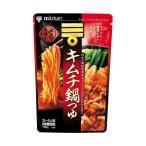 送料無料 【2ケースセット】ミツカン 〆まで美味しい キムチ鍋つゆ ストレート 750g×12袋入×(2ケース)